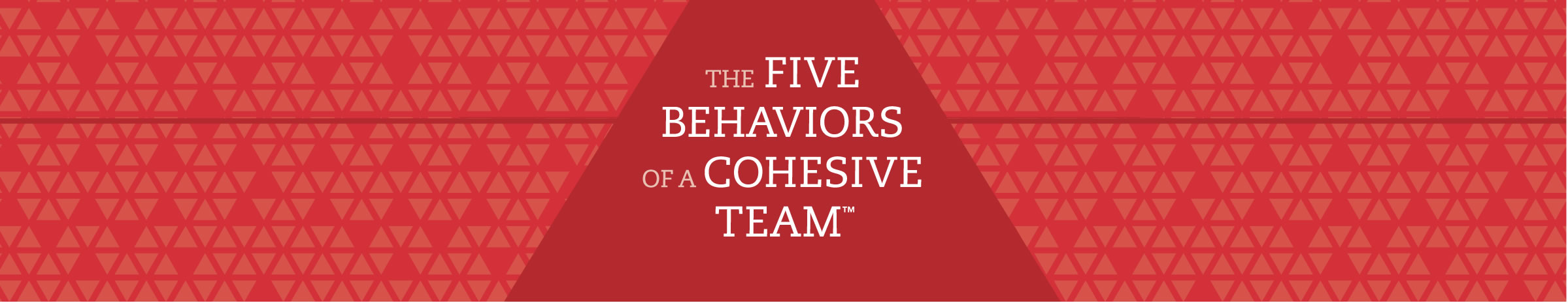 Five Behaviors of a Cohesive Team